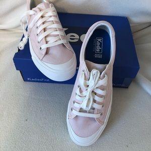 Keds Crew Kick 75 pink lilac sneakers, 8.5 New!